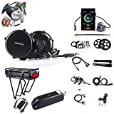 JUNSTAR Mountain Bike Mid-Drive Motor Road Bike Electric Mid Motor Bafang BBS02B 48V 750W (MM...